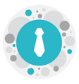 of business symbol on tie icon vector image