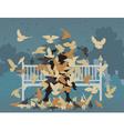 Pigeon park vector image