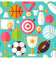 Sport Competition Flat Design Blue Seamless vector image