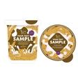 Cereal Yogurt Packaging Design Template vector image