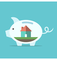 Piggy bank with house vector image