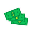 cash icon in flat style dollar banknote green vector image