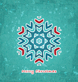 Christmas flake vector image