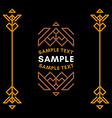 Decorative Geometric Logo and Borders Brown on vector image