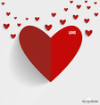 Happy Valentines Day paper hearts vector image