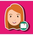 student girl school icon vector image