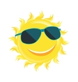 Sun Face with Sunglassess vector image
