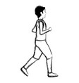 thin man in sports suit running vector image