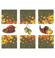 Autumn banners with leaves and pumpkinsturkey vector image