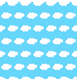 Cloud seamless background vector image vector image