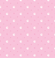 pink polka dot vector image