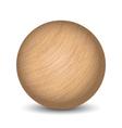wooden ball vector image