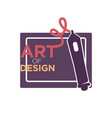 art of design colorful logo label isolated on vector image