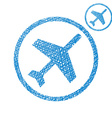 Plane simple single color icon isolated on white vector image