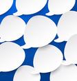 Paper white speech bubbles vector image