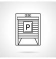 Parking garage black line icon vector image