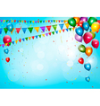 Colorful holiday background with balloons and vector image vector image