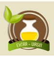 Natural olive oil labe vector image