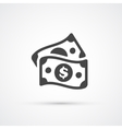 Money dollar flat trendy icon vector image