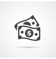 Money dollar flat trendy icon vector image vector image