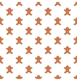 Christmas cookie pattern cartoon style vector image