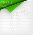 green corner vector image