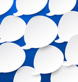 Paper white speech bubbles vector image