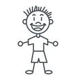 stick figure boy icon vector image