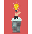Idea form garbage vector image