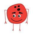 cute bowling ball cartoon character vector image vector image