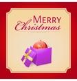 Merry Christmas gift vector image