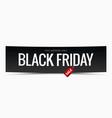 Black friday sale banner design background vector image