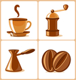 coffee and accessories vector image