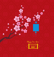 Oriental Paper Lantern plum blossom Chinese new vector image