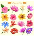 Watercolor style colorful flower vector image