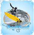 soul surf vector image