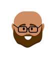 avatar man head to social user vector image