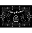Easter background with bunnies vector image