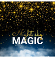 Festive Sparkling Gold Explosion Infinity Magic vector image