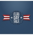 Flag Day Sale Banner with Text and Shadow vector image