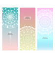 flower mandala set vector image