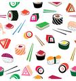 Food sea set vector image