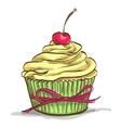 Ice cream sundae cupcake vector image