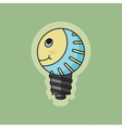 Concept green ecology bulb smiling vector image