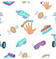 Innovative device pattern cartoon style vector image