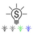 financial idea bulb icon vector image