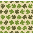seamless four leaf clovers green vintage pattern vector image