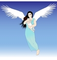 Flying woman with child vector image vector image