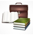 Bag and book vector image vector image