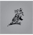 biker man vintage emblem on metal background vector image